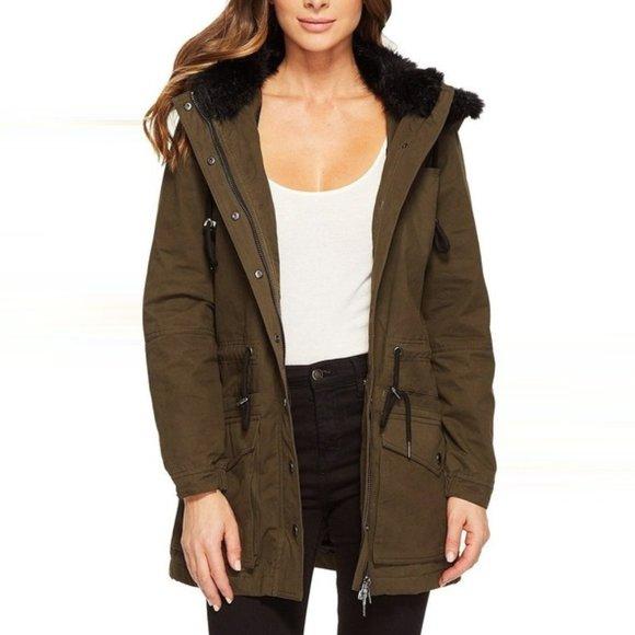 BLANKNYC - Paradise Faux Fur Trim Jacket
